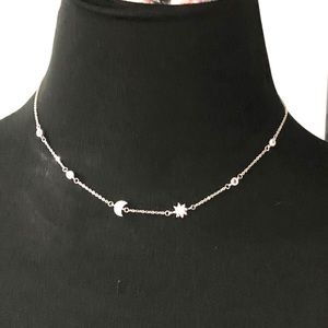 NWOT Sterling silver moon / sun necklace